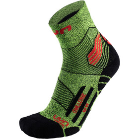 UYN Run Trail Challenge Socks Men yellow fluo melange/red
